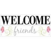 """RoomMates® Welcome Friends Quote Peel and Stick Wall Decal, 10"""" x 18"""""""