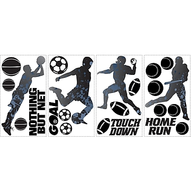 RoomMates® Sports Silhouettes Peel and Stick Wall Decal, 10