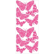 "RoomMates® Flocked Butterfly Peel and Stick Wall Decal, 40"" x 18"""