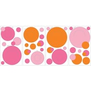 "RoomMates® Pink and Orange Peel and Stick Wall Pocket Decal, 10"" x 18"""