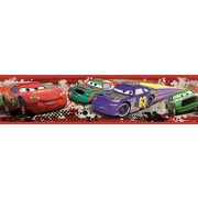 "RoomMates® Cars Piston Cup Racing Peel and Stick Border, Multi-color, 180"" L x 5"" H"