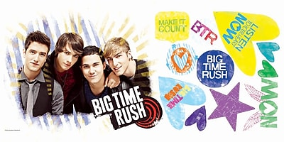 RoomMates® Big Time Rush Peel and Stick Giant Wall Decal, 18