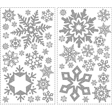 RoomMates® Glitter Snowflakes Peel and Stick Wall Decal, 18