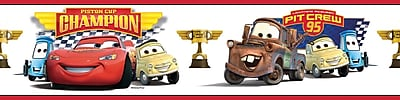 RoomMates® Cars Piston Cup Champions Peel and Stick Border, Multi-color, 180
