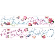 """RoomMates® Disney Princess Quotes Peel and Stick Wall Decal, 9"""" x 40"""""""