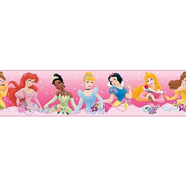 RoomMates® Disney Princess Dream Peel and Stick Border, Pink, 180