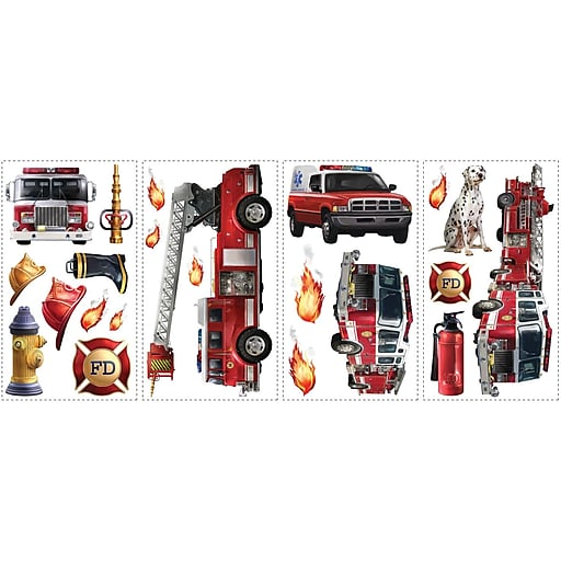 Roommates Fire Brigade L And Stick Wall Decal 10 X 18