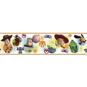 """RoomMates® Toy Story 3 Peel and Stick Border, White, Blue, Green, 180"""" L x 5"""" H"""