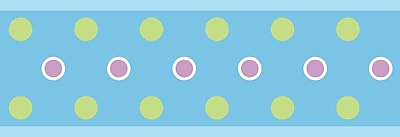 RoomMates® Polka Dot Peel and Stick Border, Blue, 180