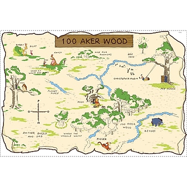 RoomMates® Pooh and Friends 100 Aker Wood Maps Peel and Stick Wall Decal, 27