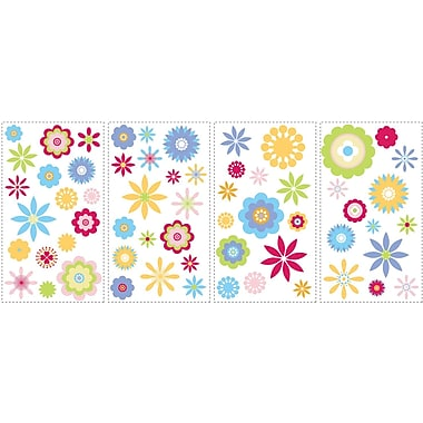 RoomMates® Graphic Flowers Peel and Stick Wall Decal, 10