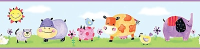 RoomMates® Polka Dot Piggy Peel and Stick Border, Multi-color, 5