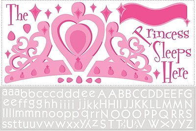RoomMates® Princess Sleeps Here Peel and Stick Giant Wall Decal with Alphabet, 18