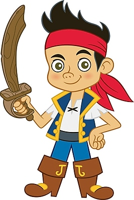 RoomMates® Jake and the Neverland Pirates Jake Peel and Stick Giant Wall Decal, 18