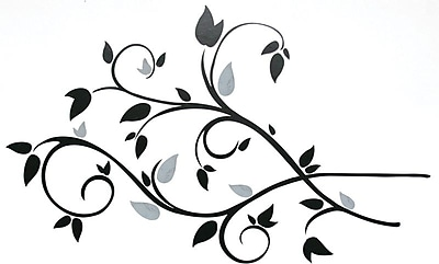 RoomMates® Scroll Branch Foil Leaves Peel and Stick Wall Decal, 10