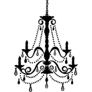 "RoomMates® Chandelier Peel and Stick Giant Wall Decal with Gems, 18"" x 40"""