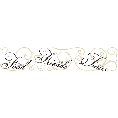 RoomMates® Good Food, Good Friends, Good Times Peel and Stick Wall Decal, 27