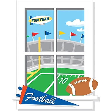RoomMates® Game Day Football Window Peel and Stick Giant Wall Decal, 27