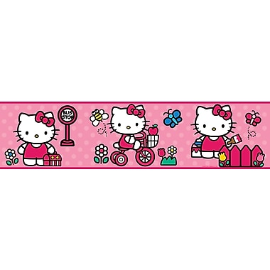 RoomMates® World of Hello Kitty Peel and Stick Border, Red, 180