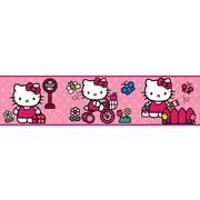 "RoomMates® World of Hello Kitty Peel and Stick Border, Red, 180"" L x 5"" H"