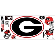 "RoomMates® University of Georgia® Giant Wall Decal with Hooks, 18"" x 40"""