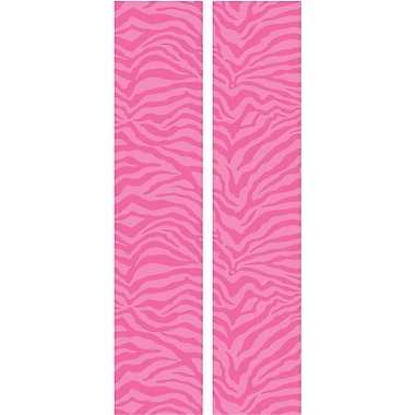 RoomMates® Pink and White Zebra Locker Peel and Stick Wall Decal, 8 3/5