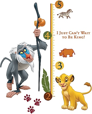 RoomMates® The Lion King Peel and Stick Growth Chart, 27