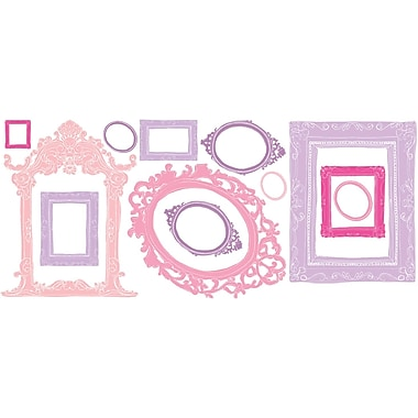 RoomMates® Pink and Purple Frames Peel and Stick Wall Decal, 18