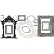 "RoomMates® Metallic Black and Silver Frames Peel and Stick Wall Decal, 18"" x 40"""