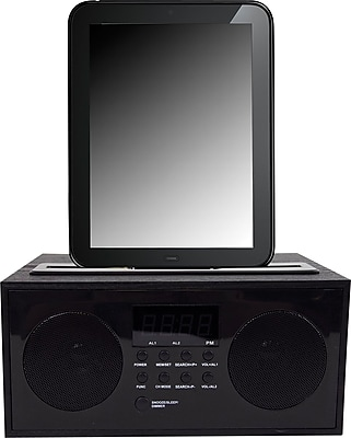 Speaker System with Clock Radio