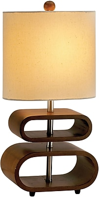 Adesso Rhythm Table Lamp, Walnut (3202-15 )