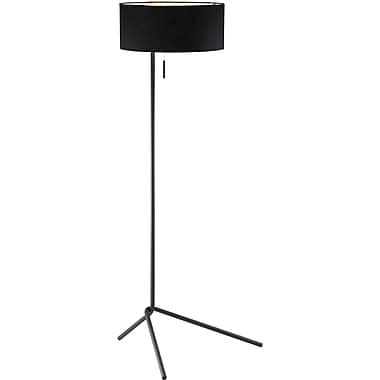 Adesso® 6191-01 Twixt Floor Lamp, 1 x 100 W, Metal With Black Matte