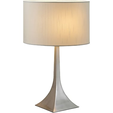 Adesso® 6364-22 Luxor Tall Table Lamp, 1 x 150 W, Satin Nickel/Chrome
