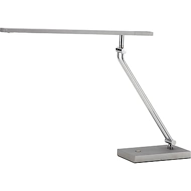 Adesso® 3392-22 Saber LED Desk Lamp, 1 x 7.2 W, Steel/Silver