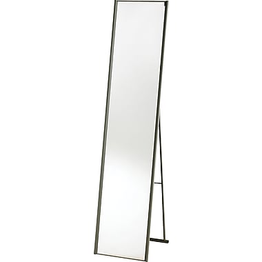 Adesso® WK2444-22 Alice Floor Mirror, Satin Steel