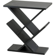 Adesso Zig-Zag Wood Accent Table, Black, Each (WK4614-01)