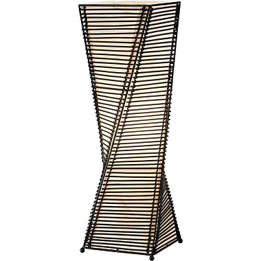 Adesso® 4045-01 Stix Table Lantern, 1 x 60 W, Black