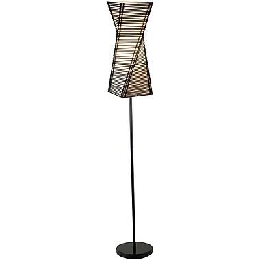 Adesso® 4047-01 Stix Floor Lamp, 1 x 100 W, Black