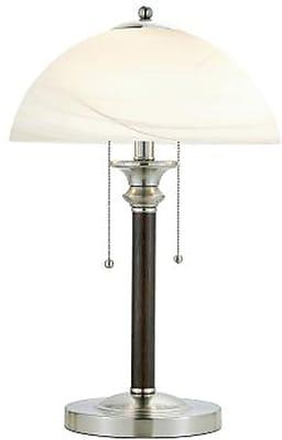 Adesso Lexington Table Lamp, Dark Walnut Rubberwood (4050-15)