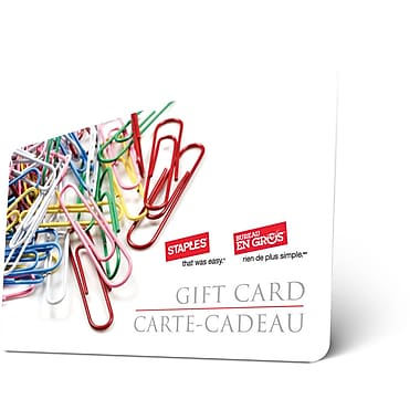 Staples - Carte-cadeau de 30 $