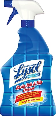 Professional Lysol® Brand II Basin Tub & Tile Cleaner, 32-oz. Spray, 12/Ct