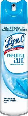 Lysol® Neutra Air® Sanitizing Spray, Revitalizing Fresh Breeze, 10 oz.