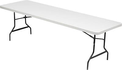 Iceberg Rectangular Folding Table, Platinum, 29