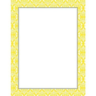 Fresh Slate Damask Designer Stationery, 40/Pack