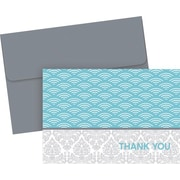 Great Papers® Fresh Slate Scallops Thank You Note Cards with Envelopes, 20/Pack