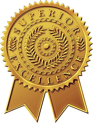 Great Papers® Gold Star Burst Foil Certificate Seals, 48/Pack