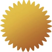 Great Papers® Gold Foil Value Certificate Seals, 100/Pack