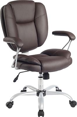 Techni Mobili Plush Task Chair, Chocolate