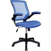 TechniMobili Mesh Computer and Desk Office Chair, Fixed Arms, Blue (RTA-8050-BL)