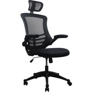 TechniMobili Mesh Computer and Desk Office Chair, Fixed Arms, Black (RTA-80X5-BK)